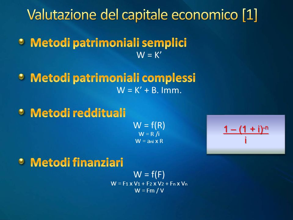 Valutazione del capitale economico [1]